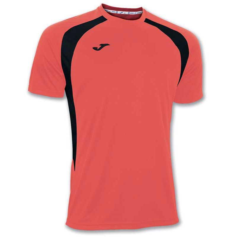 Joma T-shirt Manche Courte Champion Iii 12-14 Years Coral Fluor / Black
