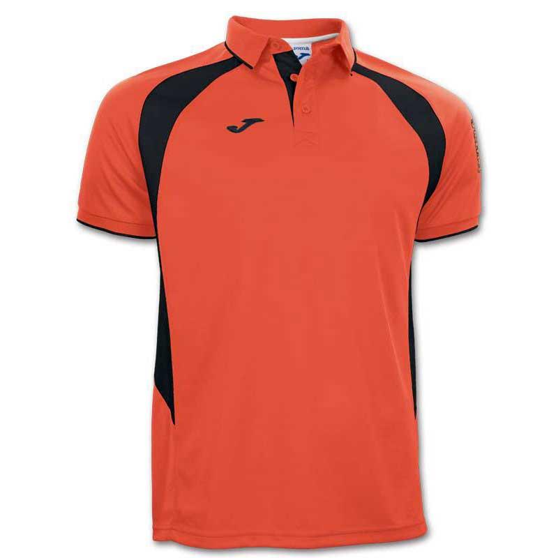 Joma Champion Iii Short Sleeve Polo Shirt S Orange / Black