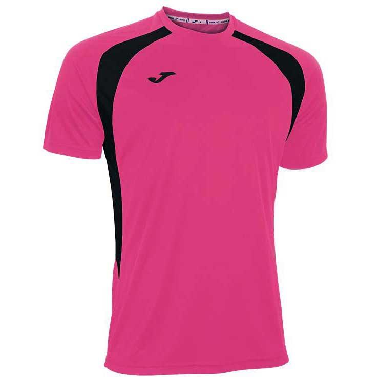 Joma T-shirt Manche Courte Champion Iii 11-12 Years Pink Fluor / Black