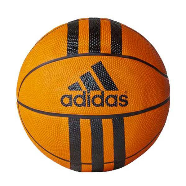 Adidas 3 Stripes Mini Basketball Ball 3 Orange/ Black