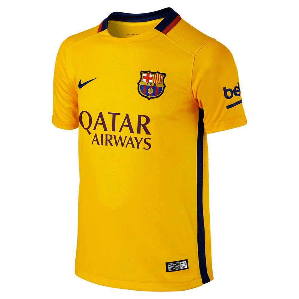 Nike Fc Barcelona Away 15/16 Junior L Yellow