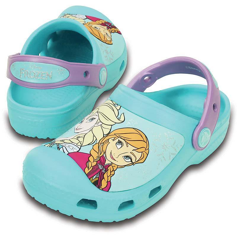 Crocs-Cc-Frozen-Clog-Verde-Ciabatte-Crocs-sport-Scarpe-ragazzi