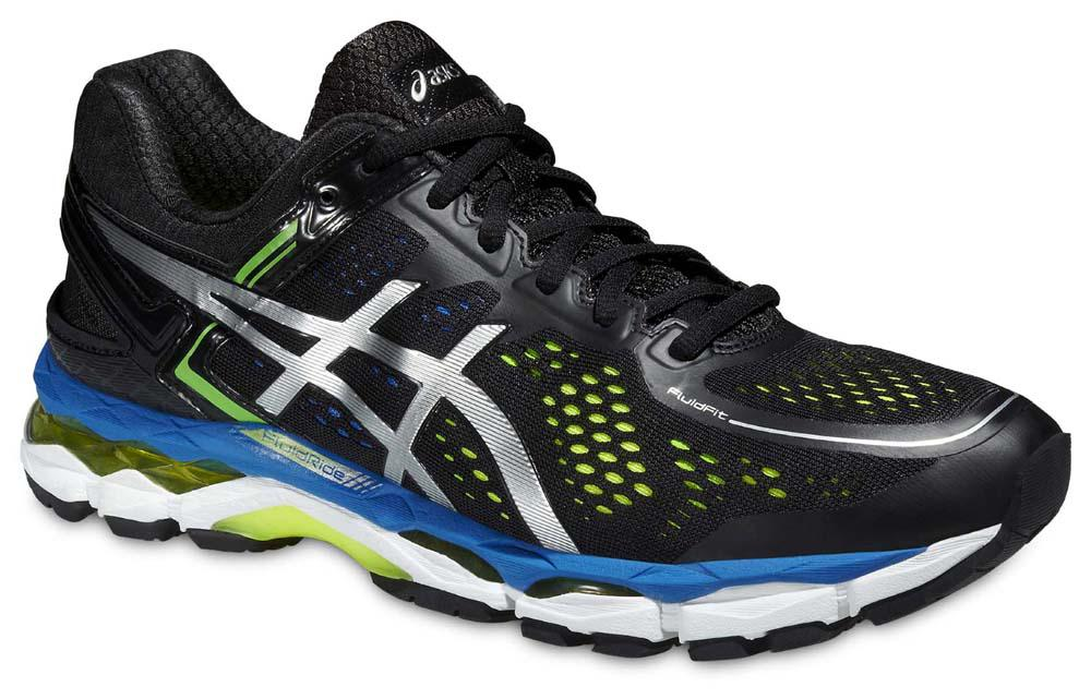 Asics Gel Kayano 22 EU 40 1/2 Black / Silver / Flash Yellow
