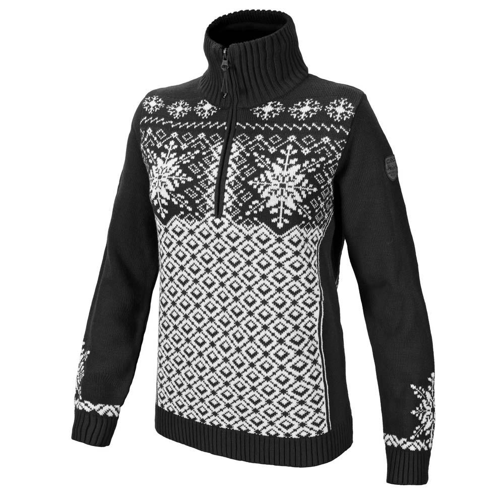 Cmp Knitted Pullover L Black