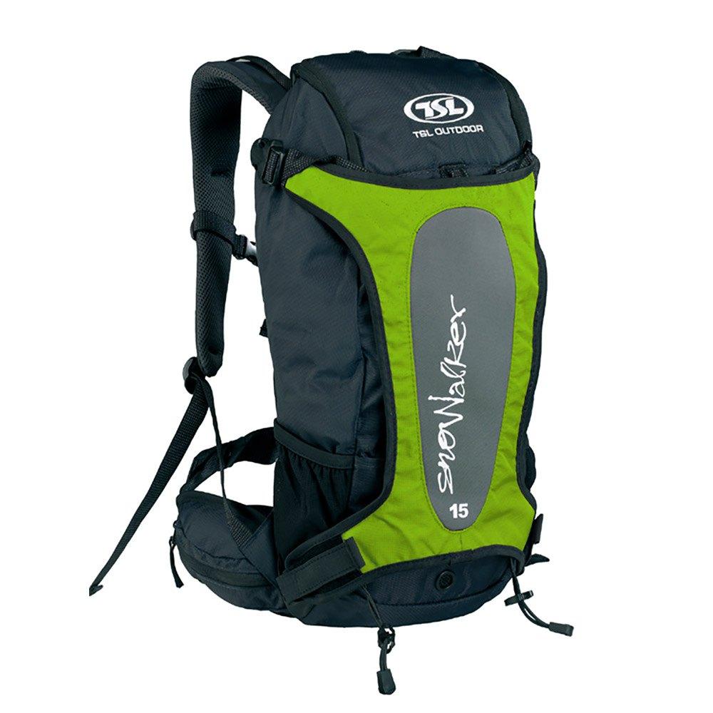 Tsl Outdoor Snowalker 15l Backpack One Size Black / Green