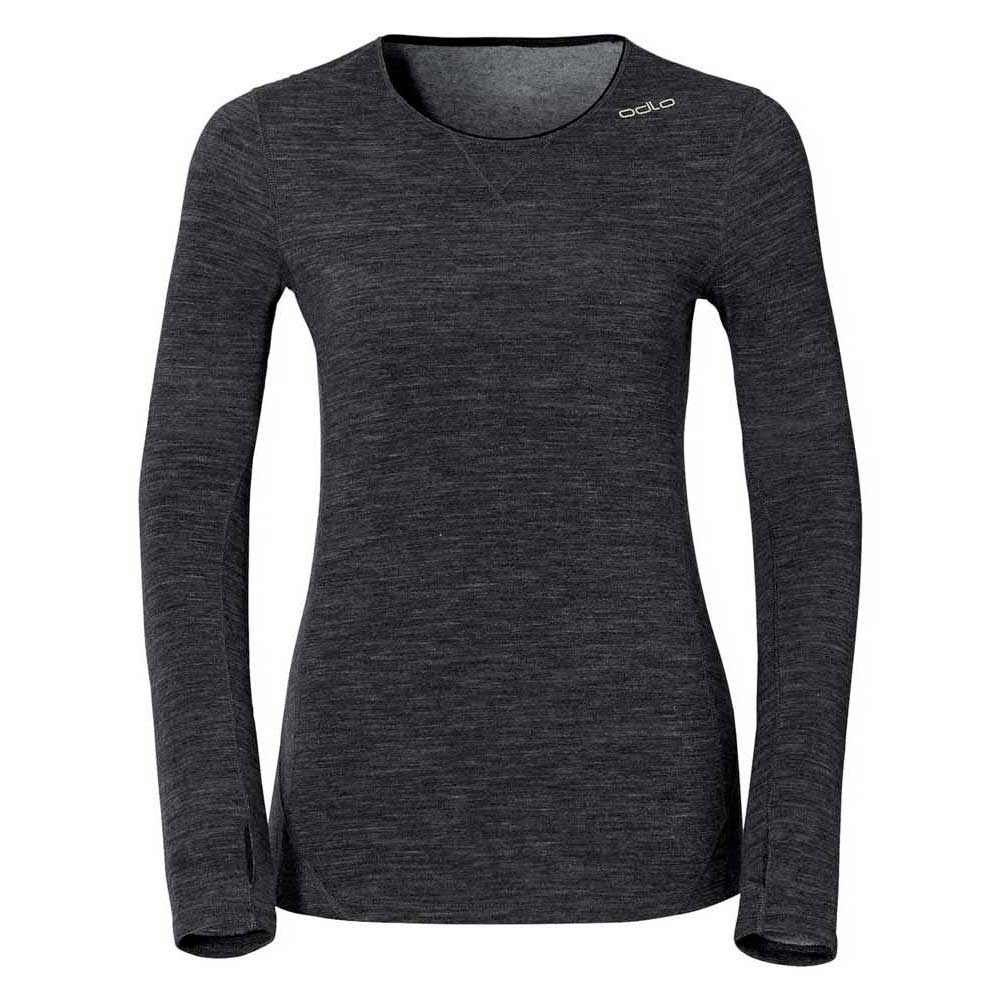 Odlo Shirt L/s Crew Neck Revolution Tw Warm L Black Melange