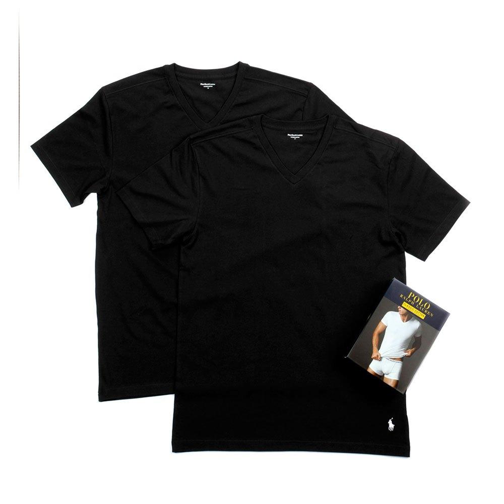 Ralph Lauren Pack-2 Short Sleeve Classic V-neck Man S Black / Black