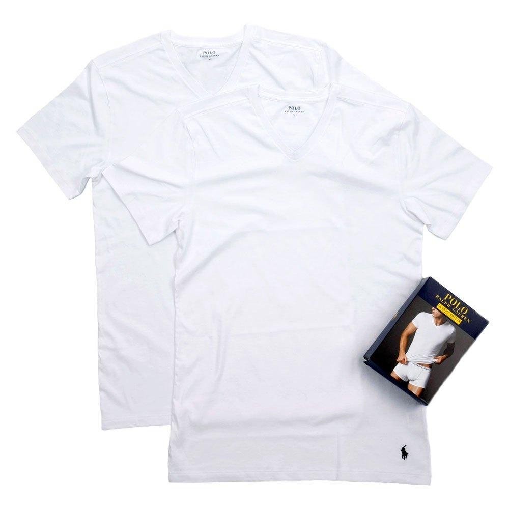 Ralph Lauren Pack-2 Short Sleeve Classic V-neck Man L White / White