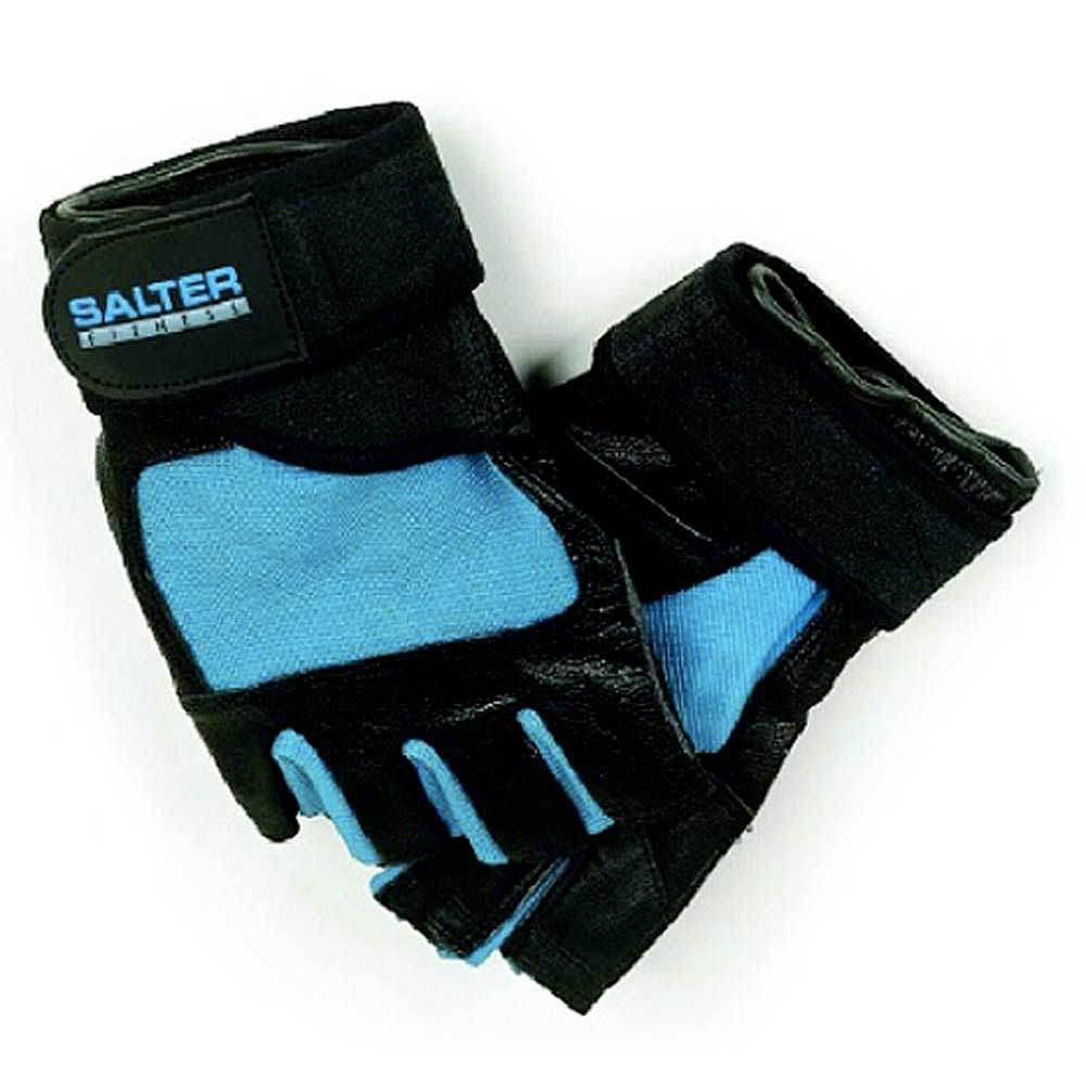 Salter Spandex Leather Gloves L Blue / Black