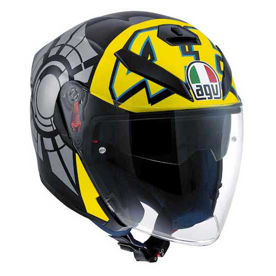 Agv K5 Top Jet Helmets Yellow Grey Ebay