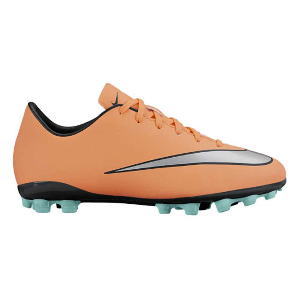 Nike Mercurial Victory V Ag Football Boots EU 38 1/2 Bright Mango / Metalic Silver / Hyper Turquoise