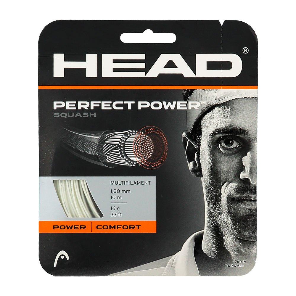 Head Racket Cordage Unité Squash Perfect Power 10 M 1.25 mm White