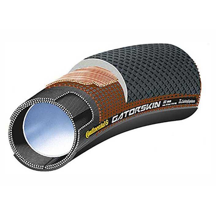 Continental Copertone Strada Tubular Sprinter Gatorskin Tubular 700 x 22C Black