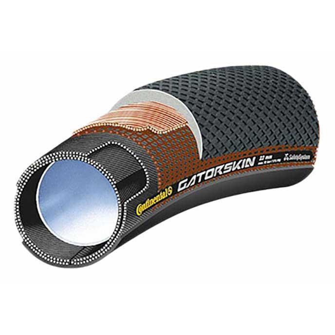 Continental Copertone Strada Tubular Sprinter Gatorskin Tubular 700 x 25C Black
