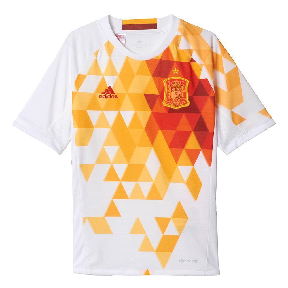 Adidas Spain Away 2017 Junior 7-8 Years White / Power Red