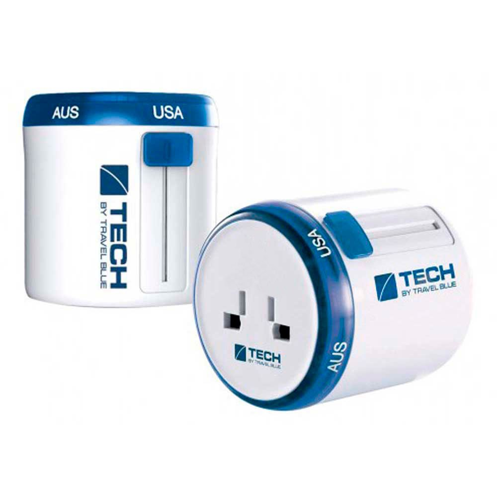 Travel Blue Twist & Side World Travel Adaptor One Size White / Blue