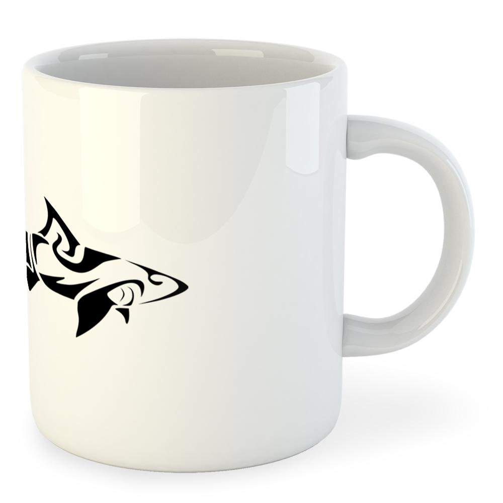 kruskis-mug-shark-tribal-325ml-325-ml-11-oz-white