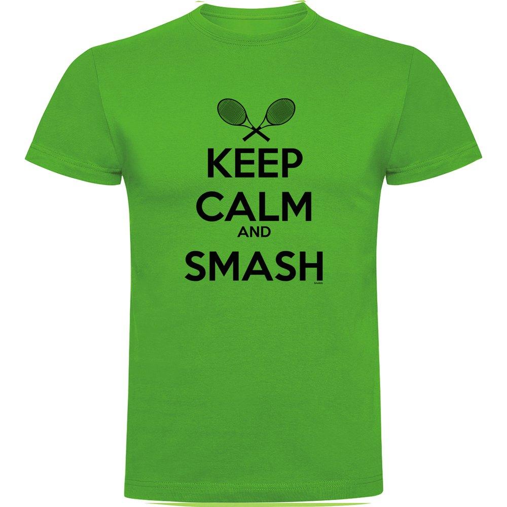Kruskis T-shirt Manche Courte Keep Calm And Smash Short Sleeve T-shirt S Green