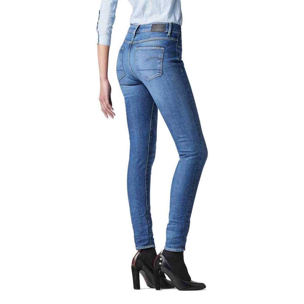 Details about Gstar 3301 Ultra High Waist Super Skinny L30 Blue T47275 Pants Woman Blue Gstar