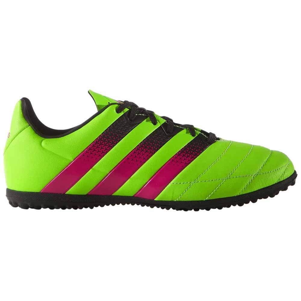 Adidas Chaussures Football Ace 16.3 Tf Cuir EU 38 2/3 Solar Green / Shock Pink / Core Black