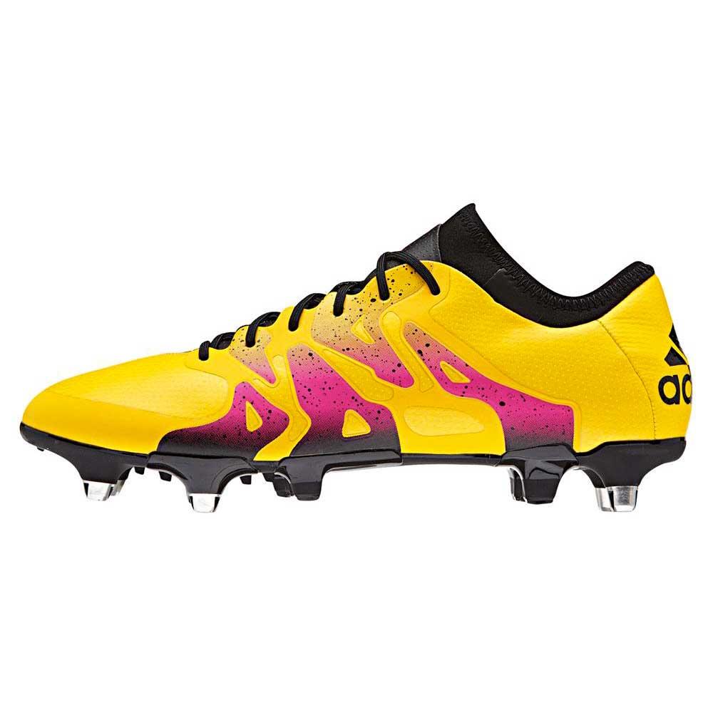 Adidas Chaussures Football X 15.1 Sg EU 42 Solar Gold / Core Black / Shock Pink