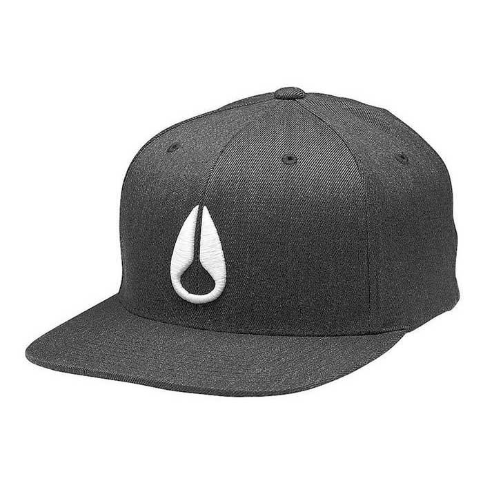 Nixon Deep Down Ff Athletic Fit Hat S-M Black Heather / White