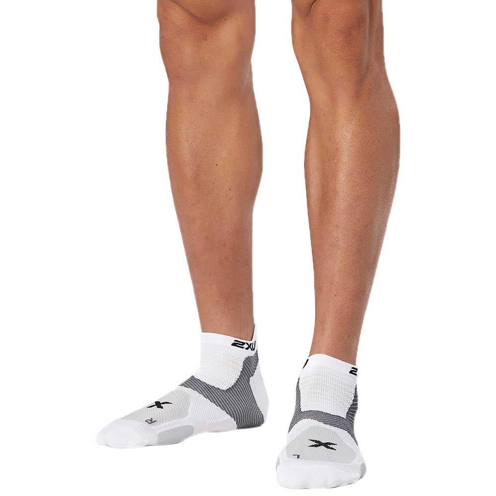 2xu Race Vectr Sock EU 38-41 1/2 White / White
