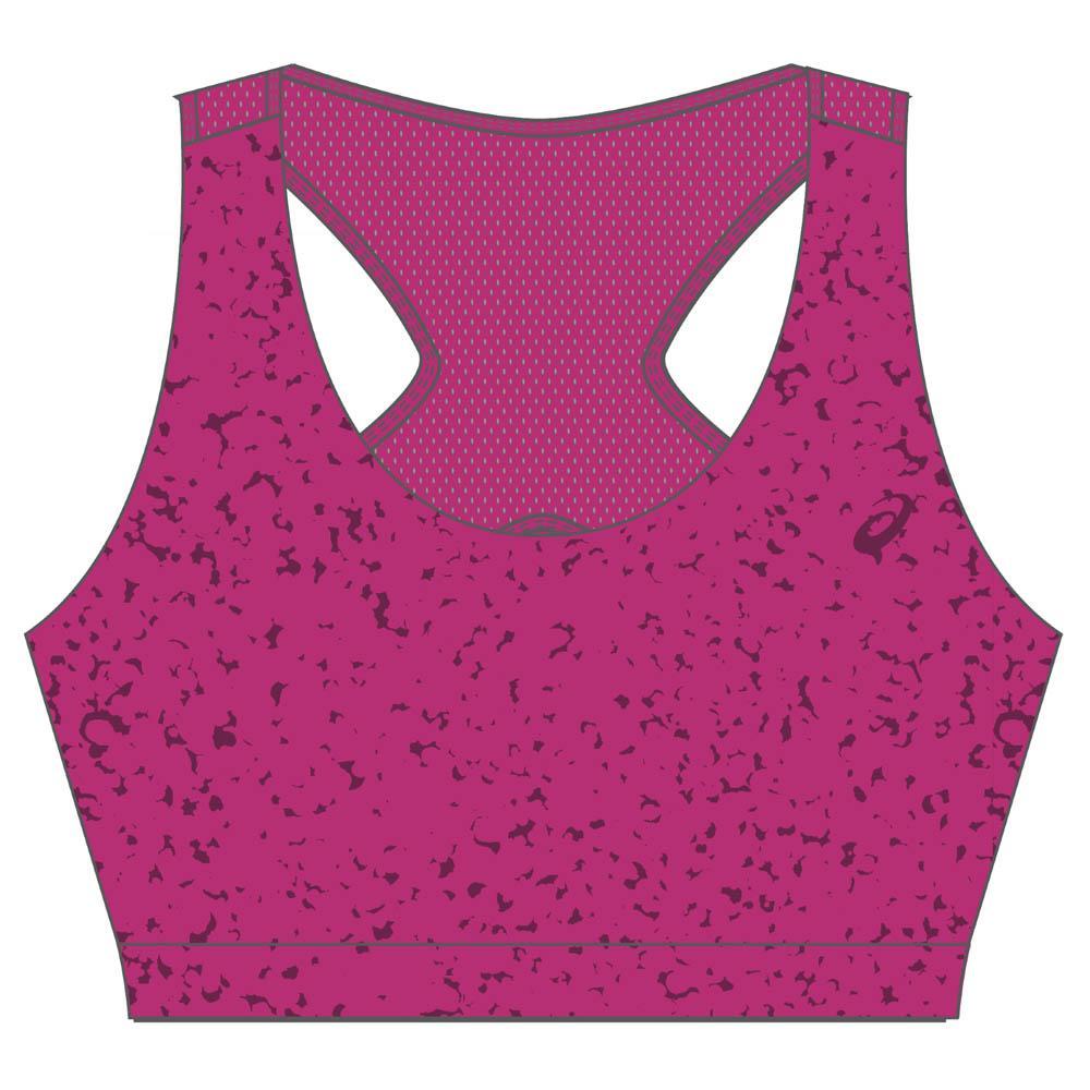 Asics Racerback Bra Top XS Berry Speckle Print