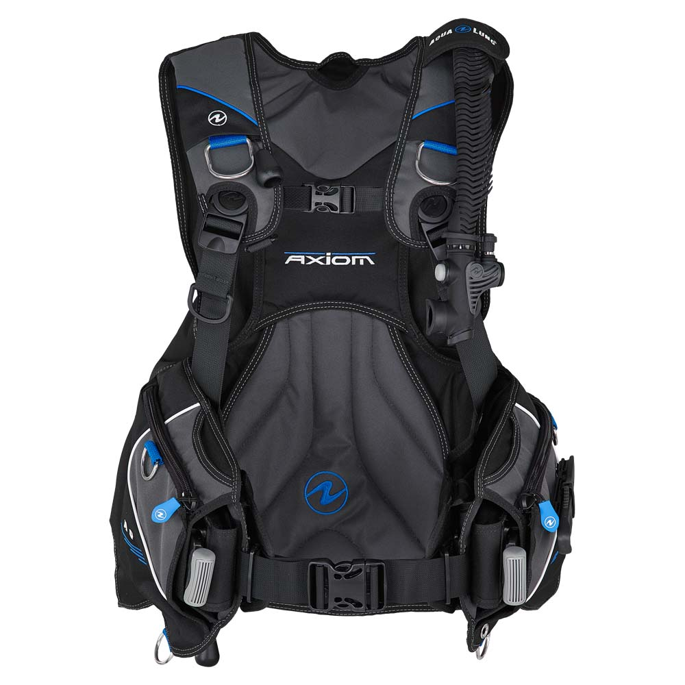 Aqualung Axiom Surelock Ii Tarierjacket Black Blue Charcoal Westen Axiom Surelock Ii Tarierjacket