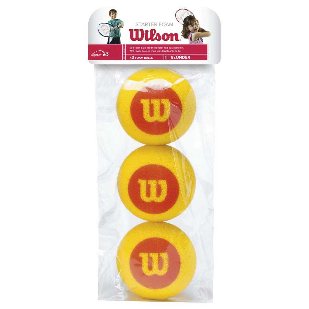 Wilson Starter Foam Bag 3 Balls Yellow / Red