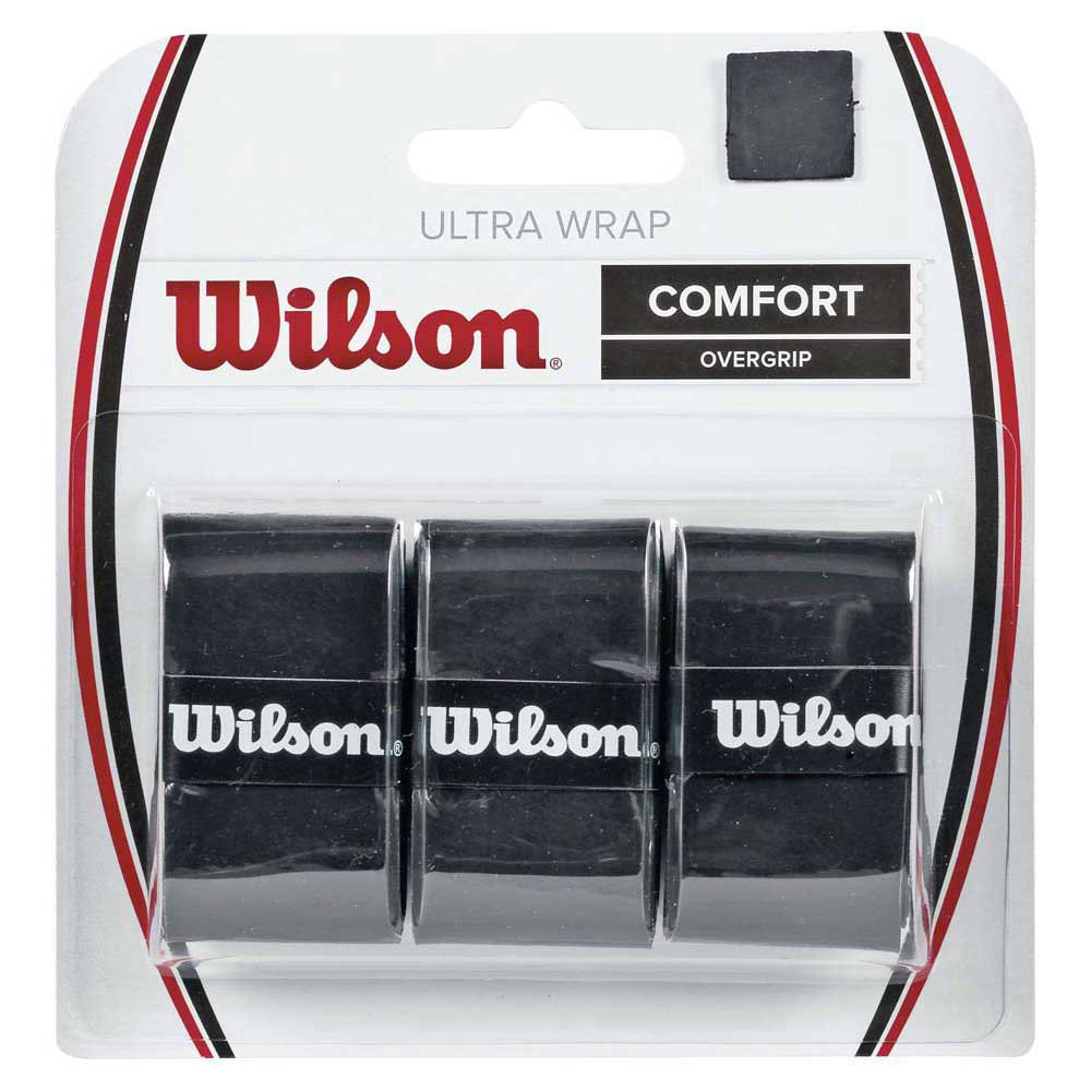 Wilson Ultra Grip Wrap 3 Pack One Size Black