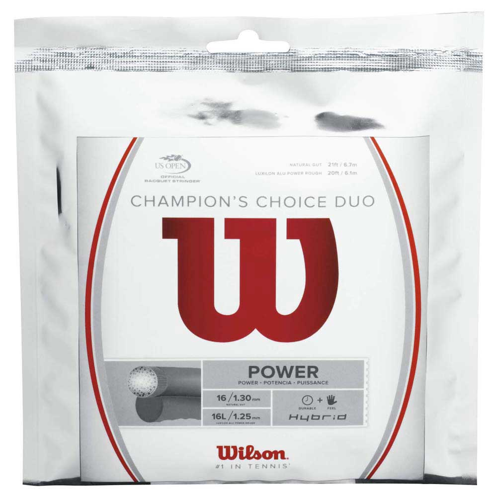 Wilson Champions Choice Duo Hybrid 12.2 M 1.30 mm / 1.25 mm Natural / Silver