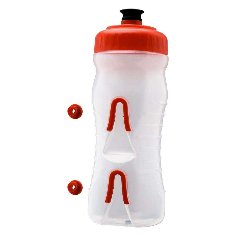 Fabric Water Bottle 600ml One Size Clear / Red