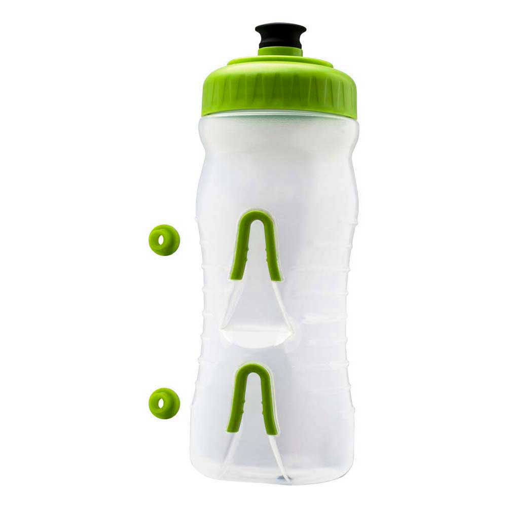 Fabric Water Bottle 600ml One Size Clear / Green