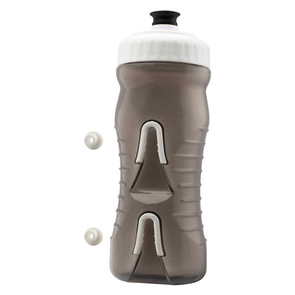 Fabric Water Bottle 600ml One Size Grey / White