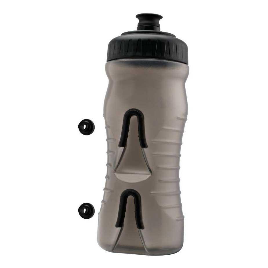 Fabric Water Bottle 600ml One Size Grey / Black