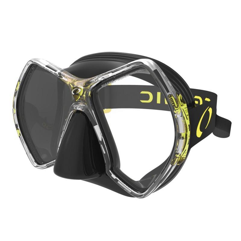Oceanic Cyanea Tauchermaske Black Yellow Tauchmasken Cyanea Tauchermaske