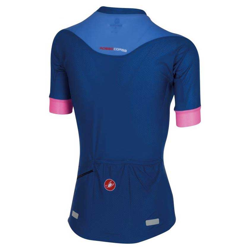 Castelli Aero Race W Jersey Fz Surf Blue / / / Riviera Blue / Pink Fluo , Maillots e51e1a