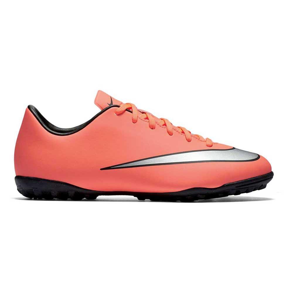 Nike Mercurial Victory V Tf EU 36 Bright Mango / Metallic Silver / Hyper Turquoise