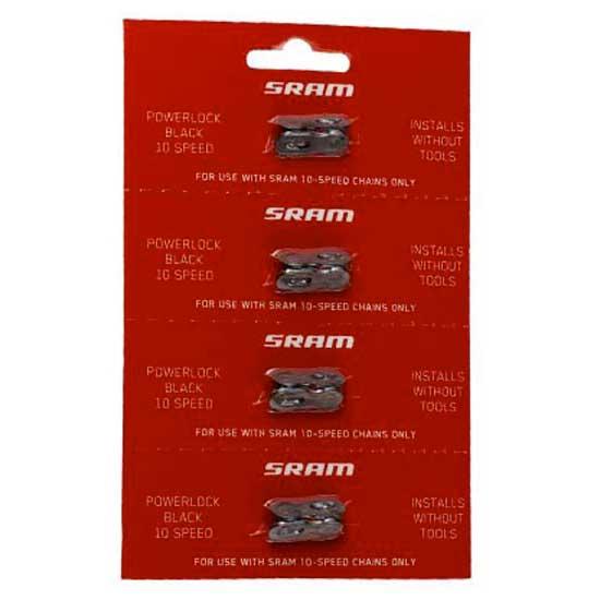 Sram Powerlock Black Chain Chain Chain Connector 10-speed 4 Pcs Black , Chaines Sram 4d1284