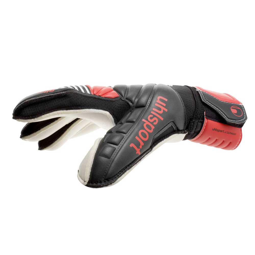 Uhlsport Eliminator Absolutgrip schwarz     rot   Weiß  Torhüterhandschuhe fe1189