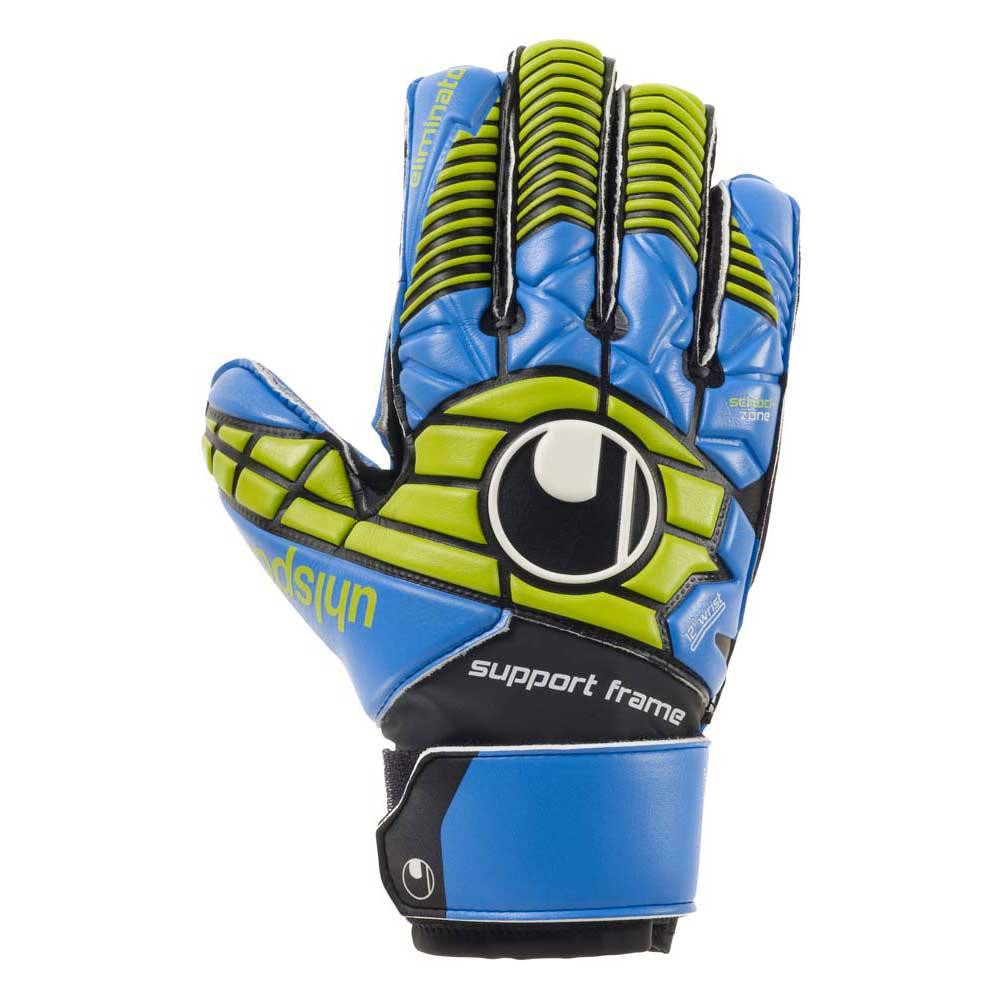 Uhlsport Gants Gardien Eliminator Soft Sf Junior 8 Black / Blue / Power Green