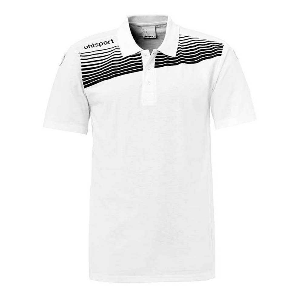 Uhlsport Polo Manche Courte Liga 2.0 140 cm White / Black