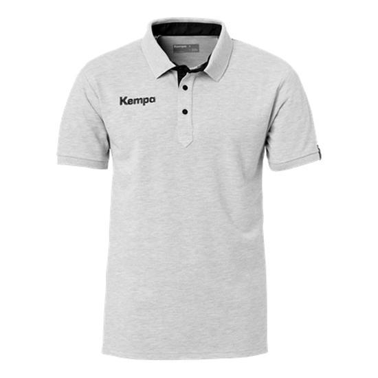 Kempa Polo Manche Courte Prime 140 cm Grey Melange / Black