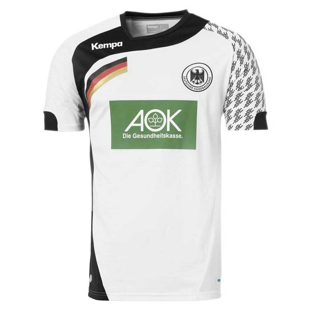 Kempa T-shirt Manche Courte Dhb Home 116 cm White / Black