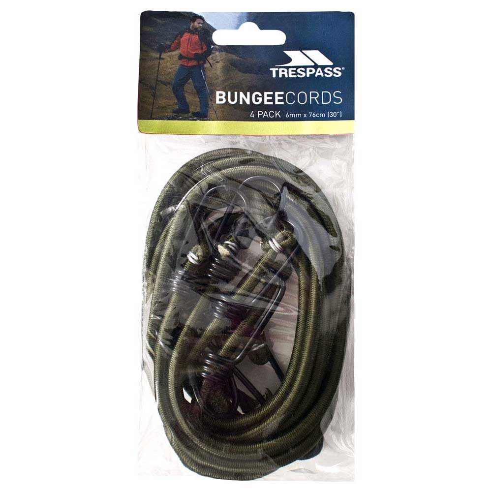 Trespass Bungee Cord 4 Pack 6mm 76 cm Olive