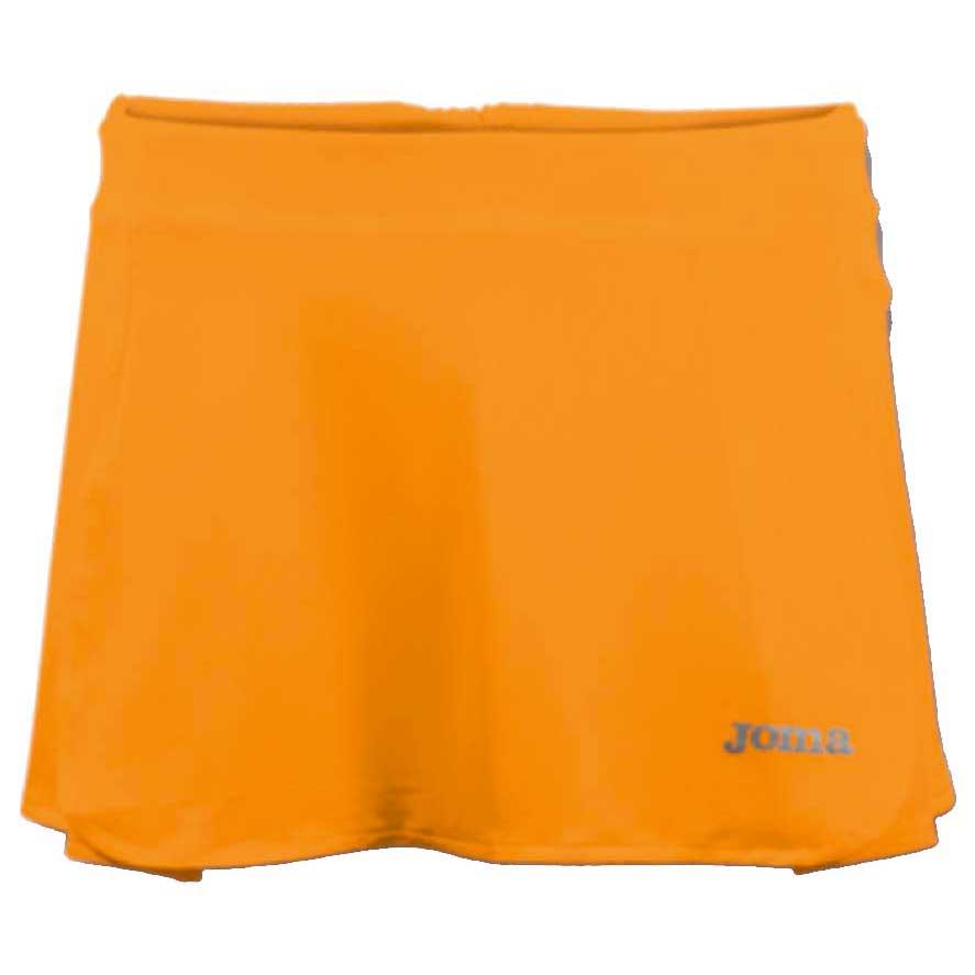 Joma Open Tennis Skirt 8-10 Years Orange Fluor