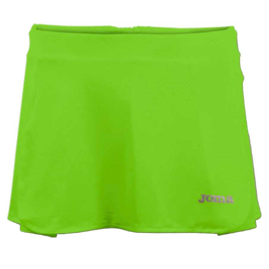 Joma Open Tennis Skirt S Green Fluor