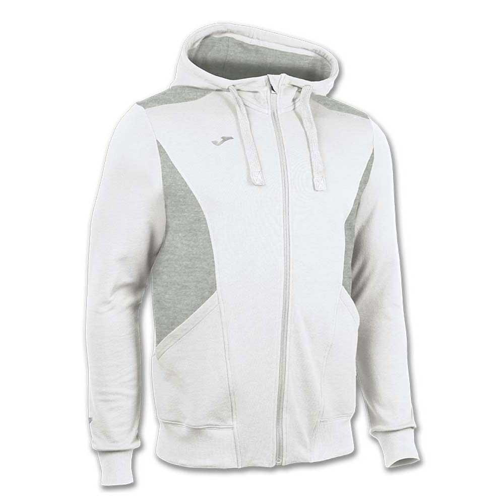 Joma Jacket Hooded Comfort XXXXS White / Light Melange
