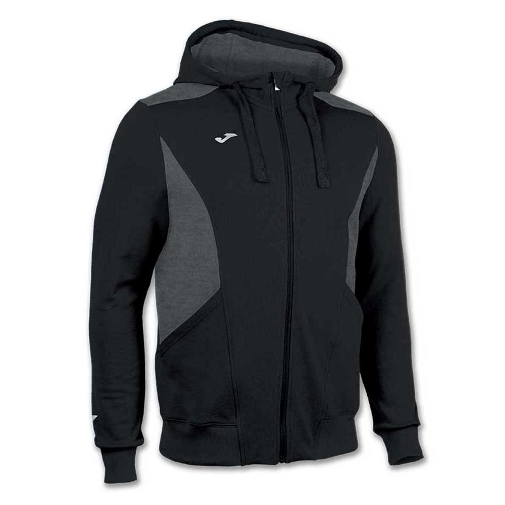 Joma Jacket Hooded Comfort XXXXS Black / Dark Melange